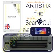 Artistix Fabric 12 x 24 Carrier Sheet Cutting Mat For The Brother Scan N Cut ScanNCut