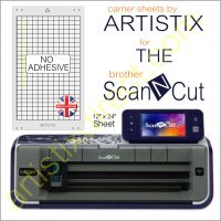 Artistix Non Adhesive 12 x 24 Carrier Sheet Cutting Mat For The Brother Scan N Cut ScanNCut