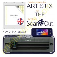 Artistix Fabric 12 x 12 Carrier Sheet Cutting Mat For The Brother Scan N Cut ScanNCut