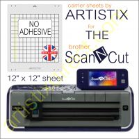 Artistix Non Adhesive 12 x 12 Carrier Sheet Cutting Mat For The Brother Scan N Cut ScanNCut