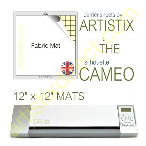 "12"" x 12"" Fabric Carrier Sheet Cutting Mat For The Graphtec Silhouette Cameo Artistix"