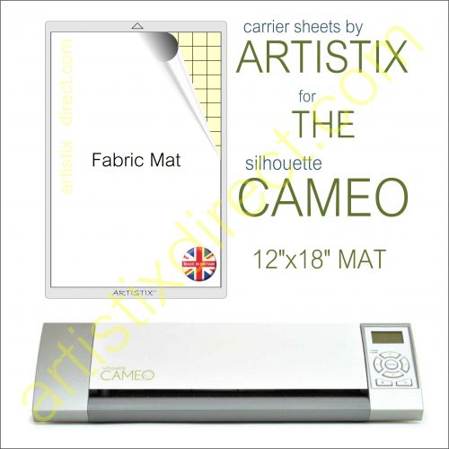 "12"" x 18"" Fabric Carrier Sheet Cutting Mat For The Graphtec Silhouette Cameo Artistix"
