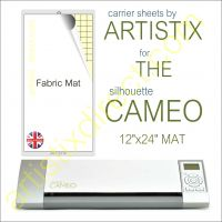 "12"" x 24"" Fabric Carrier Sheet Cutting Mat For The Graphtec Silhouette Cameo Artistix"