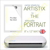 "8"" x 12"" Carrier Sheet Cutting Mat For The Graphtec Silhouette Portrait Artistix"