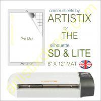 """8"""" x 12"""" Carrier Sheet Cutting Mat For The Graphtec Silhouette SD & Lite Artistix"""
