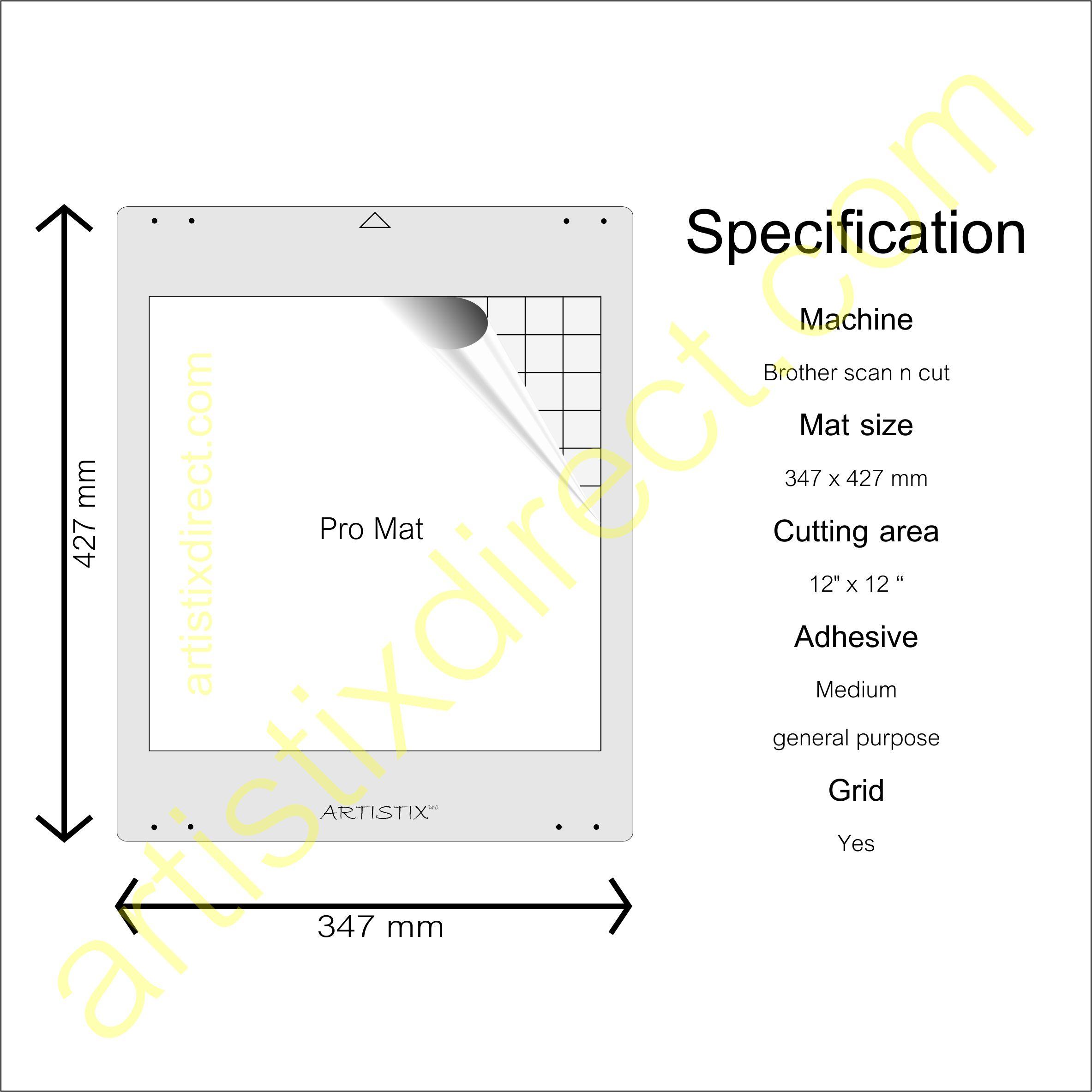 Artistix Pro 12 X 12 Carrier Sheet Cutting Mat For The Brother Scan N Cut Scanncut